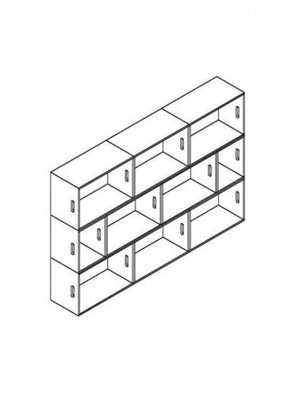 Brickbox XL - 3 Wide bookshelf