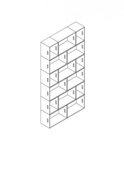 Brickbox Large - 2 Wide x 6 levels Tall bookshelf