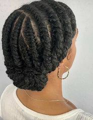 Natural Hairstyle Flat Twist | Reina Organica TT