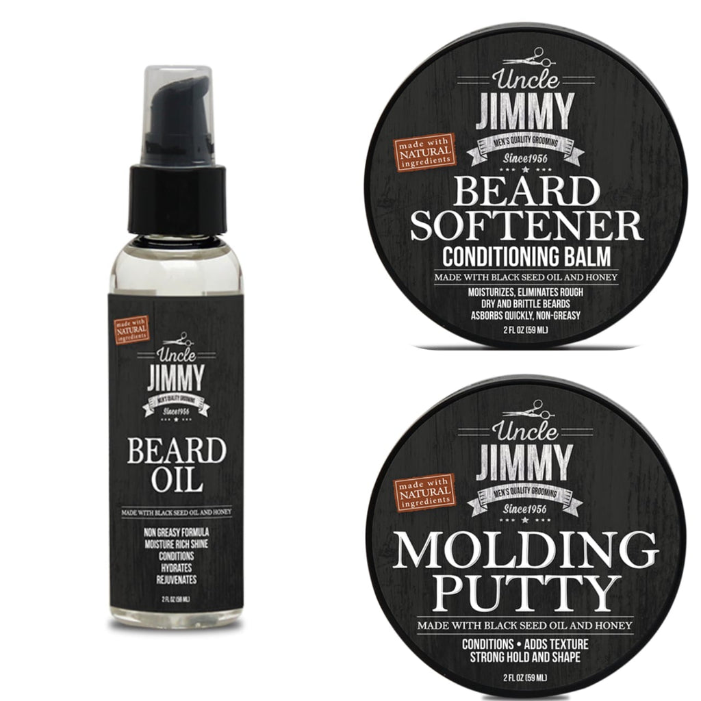 Uncle Jimmy Ultimate Trio Moisture and Style Kit - Reina Organica