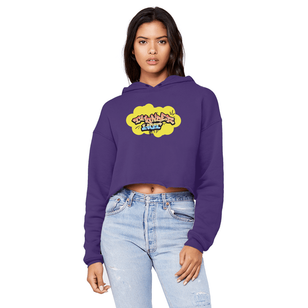 Thunder Hot Unisex Cropped Raw Hoodie