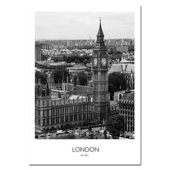 Black and White World City Landscape