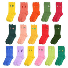Funny Fruit Embroidery Ankle Cotton Socks