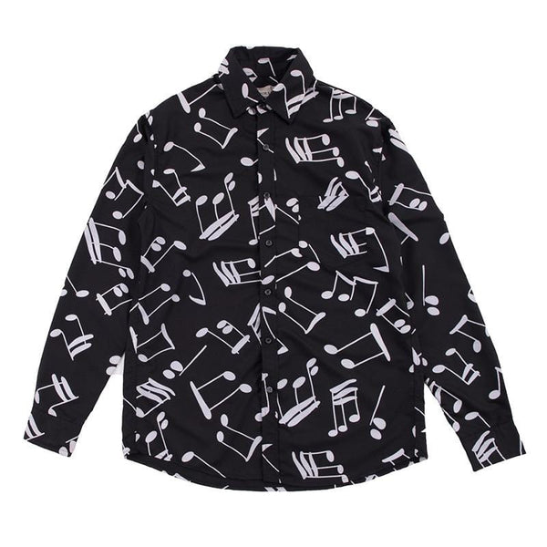 Musical Note Long Sleeve Shirt