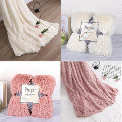 Super Soft Fuzzy Fur Faux Elegant Cozy Throw Blanket