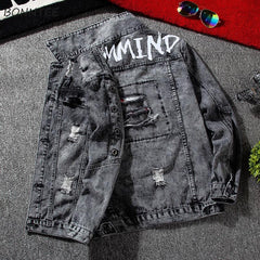Mens Denim Cargo Jacket
