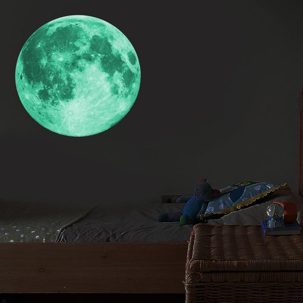 30cm Luminous Moon 3D Glow Wall Sticker