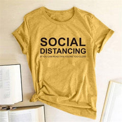 SOCIAL DISTANCING Women T-shirt