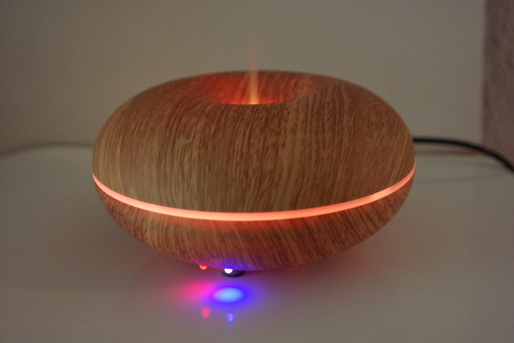 Aroma Diffuser Disco Holz dunkel