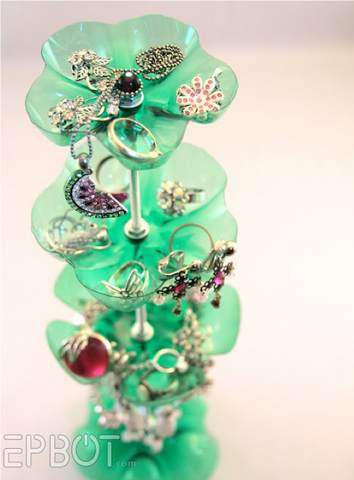 10 - Recycled Plastic Bottle Jewellery Stand - FOSH