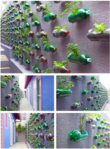 11 - Reuse Plastic Bottle Hanging Garden Feature - FOSH