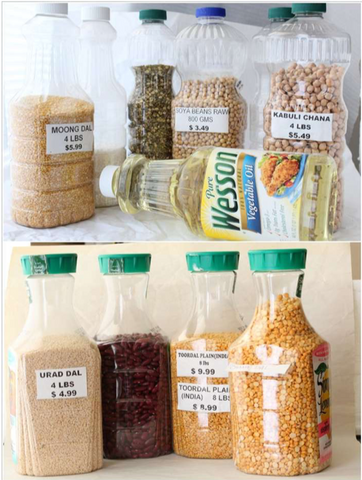 12 - Reuse Plastic Bottle Food Storage Containers - FOSH
