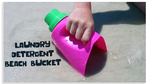 25 - Reuse Plastic Bottle Beach Bucket Scoop - FOSH