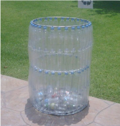 28 - Reuse Plastic Bottle Bin Trash Can - FOSH