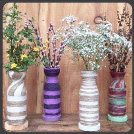 29 - Reuse Plastic Bottle Homemade Flower Vase - FOSH