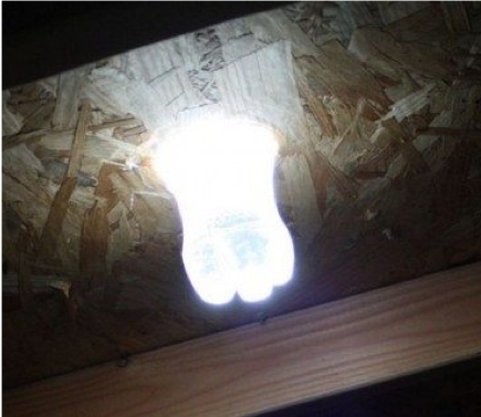 38 - Reuse Plastic Bottle Solar Water Light Bulb - FOSH