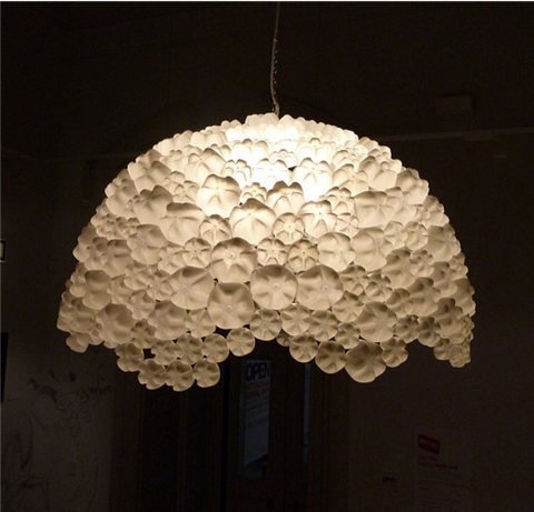 39 - Plastic Bottle Chandelier Art - FOSH