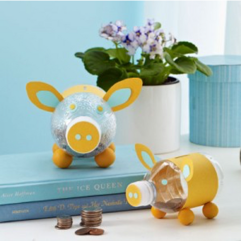 5 - Plastic Bottle Piggy Bank - FOSH
