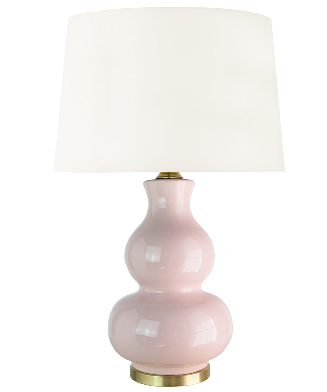 Alexandria Gourd Table Lamp, Blush