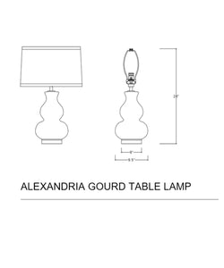 Alexandria Gourd Table Lamp, White
