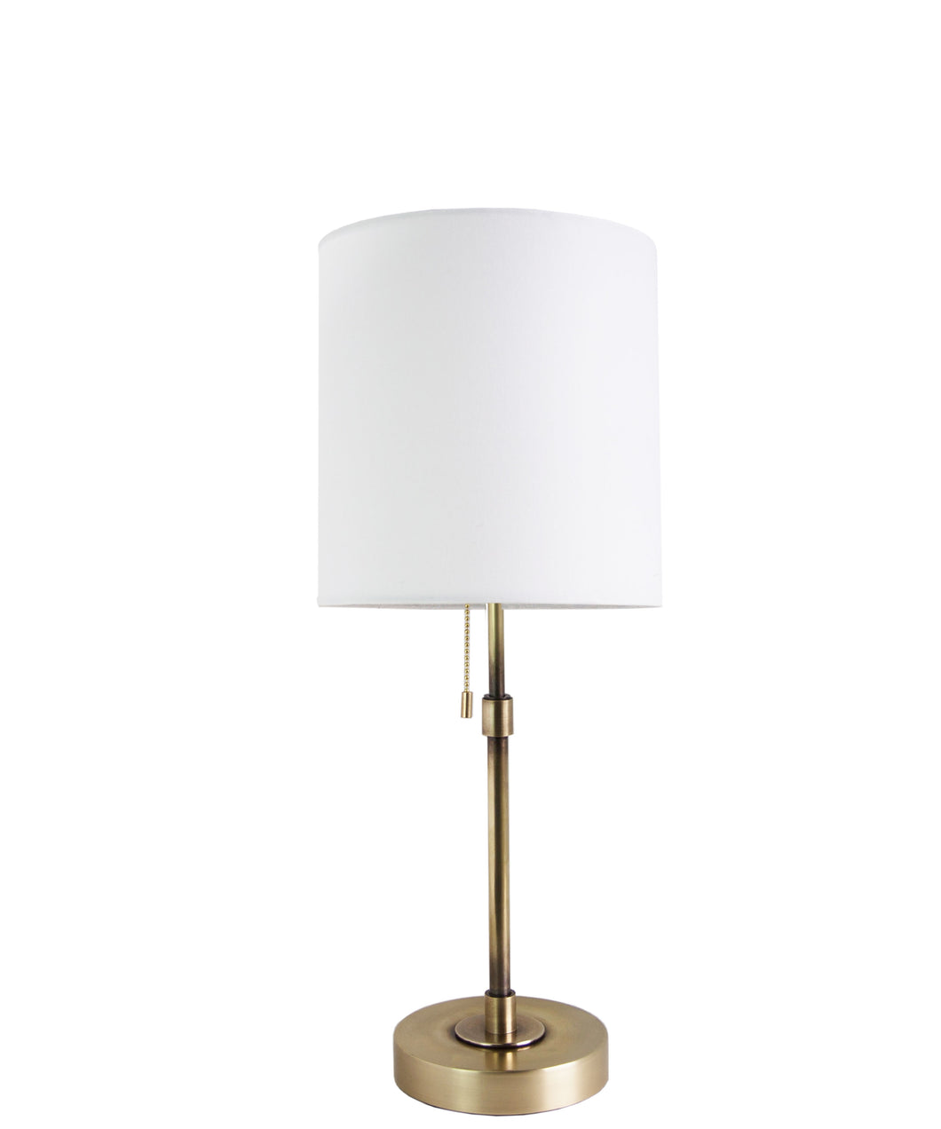 Annapolis Short Table Lamp, Antique Brass