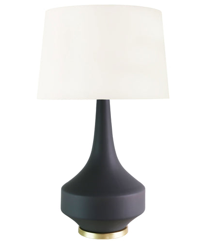 Anderson Table Lamp, Matte Charcoal