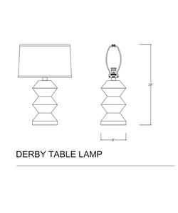Derby Table Lamp, White