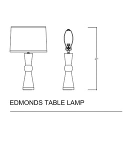 Edmonds Table Lamp, White