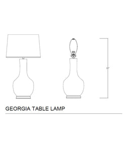 Georgia Table Lamp, Sky