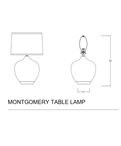 Montgomery Table Lamp, Pacific Green