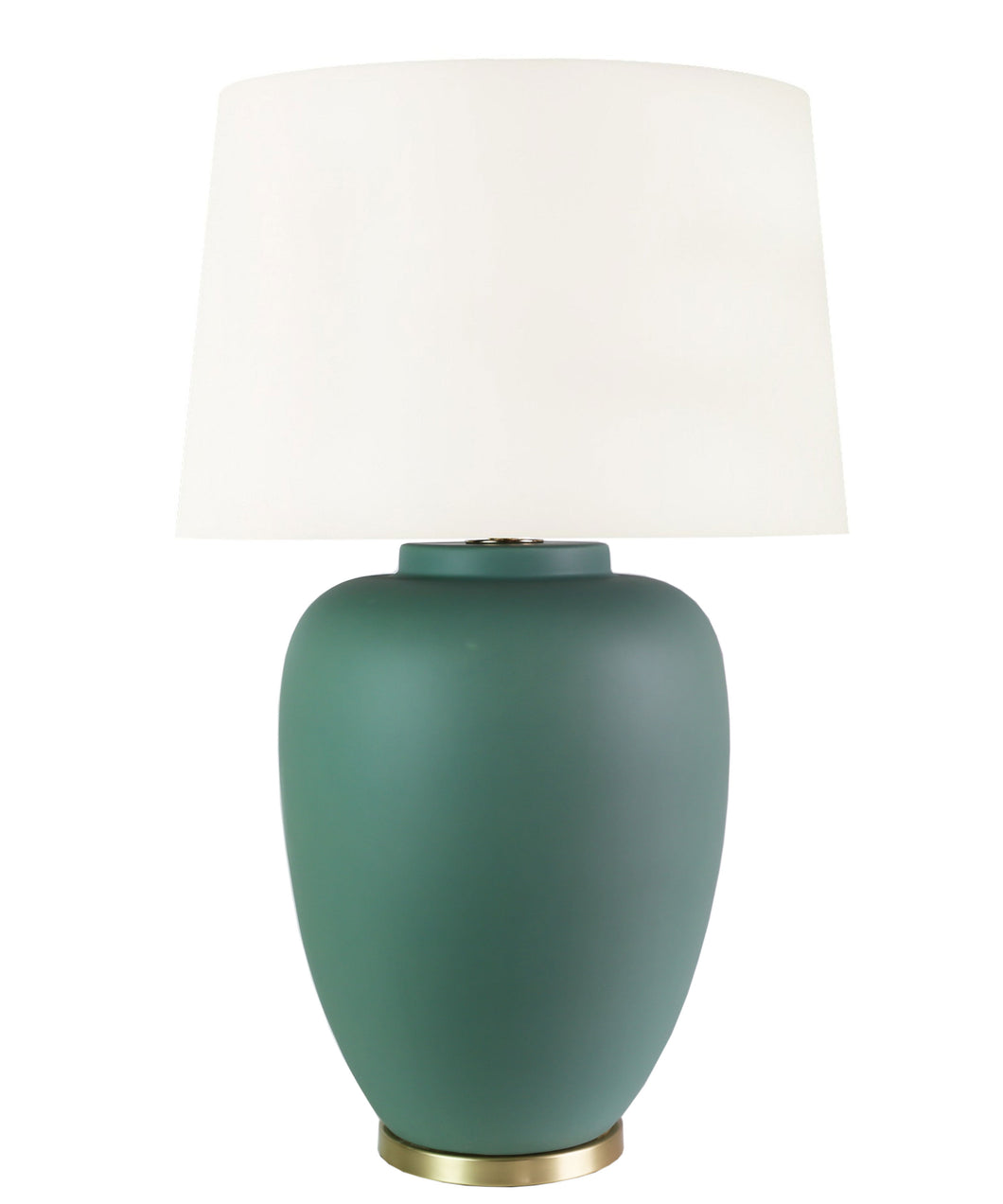 Willow Table Lamp, Matte Pacific Green