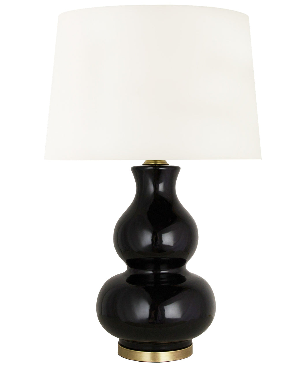 Alexandria Gourd Table Lamp, Black