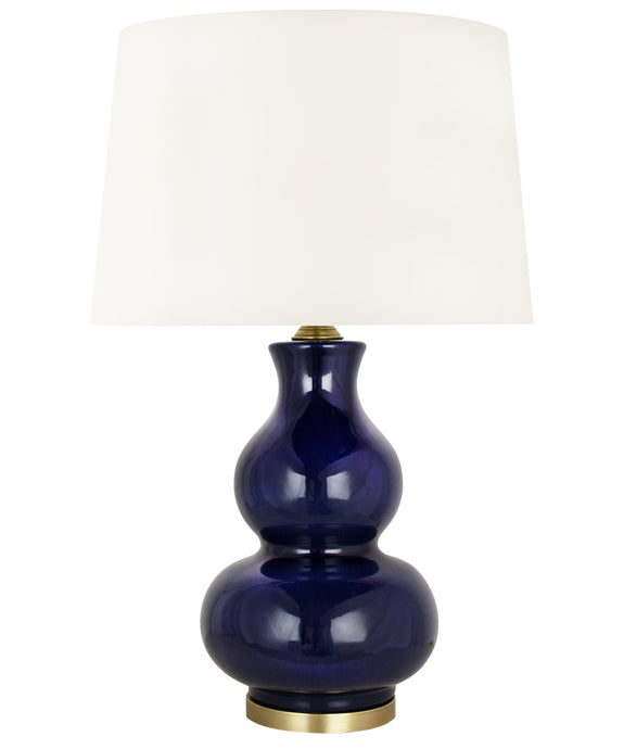 Alexandria Gourd Table Lamp, Navy