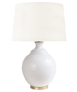 Harrison Scaled Table Lamp, White
