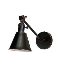 Jamestown Single Long Arm Wall Sconce, Bronze