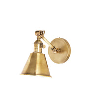 Jamestown Single Short Arm Wall Sconce, Antique Brass