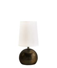 Quinn Table Lamp with Linen Shade, Bronze