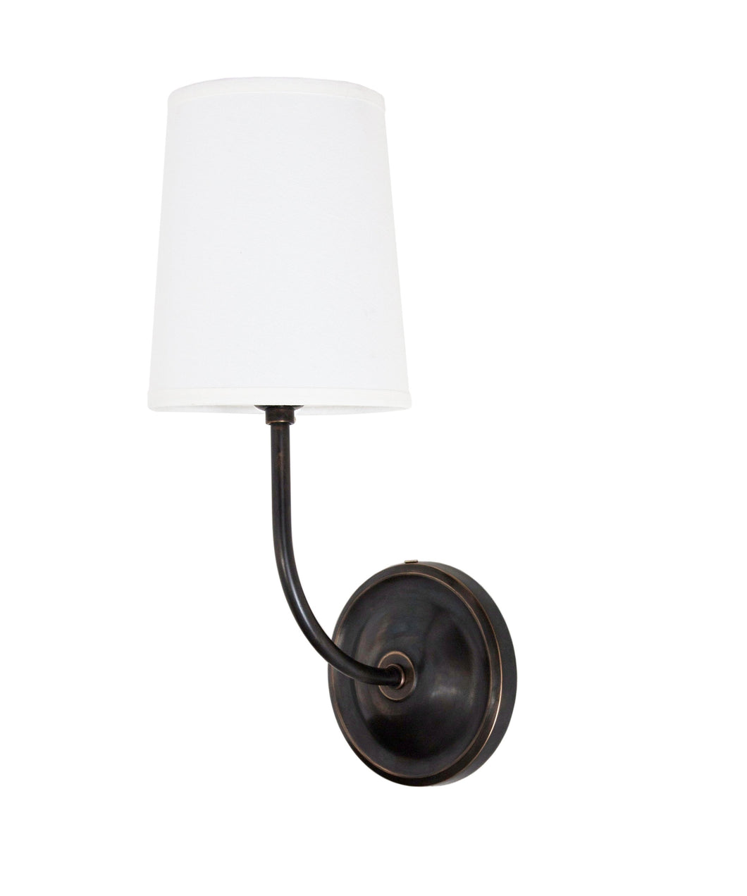 Sheffield Wall Sconce with Linen Shade, Bronze