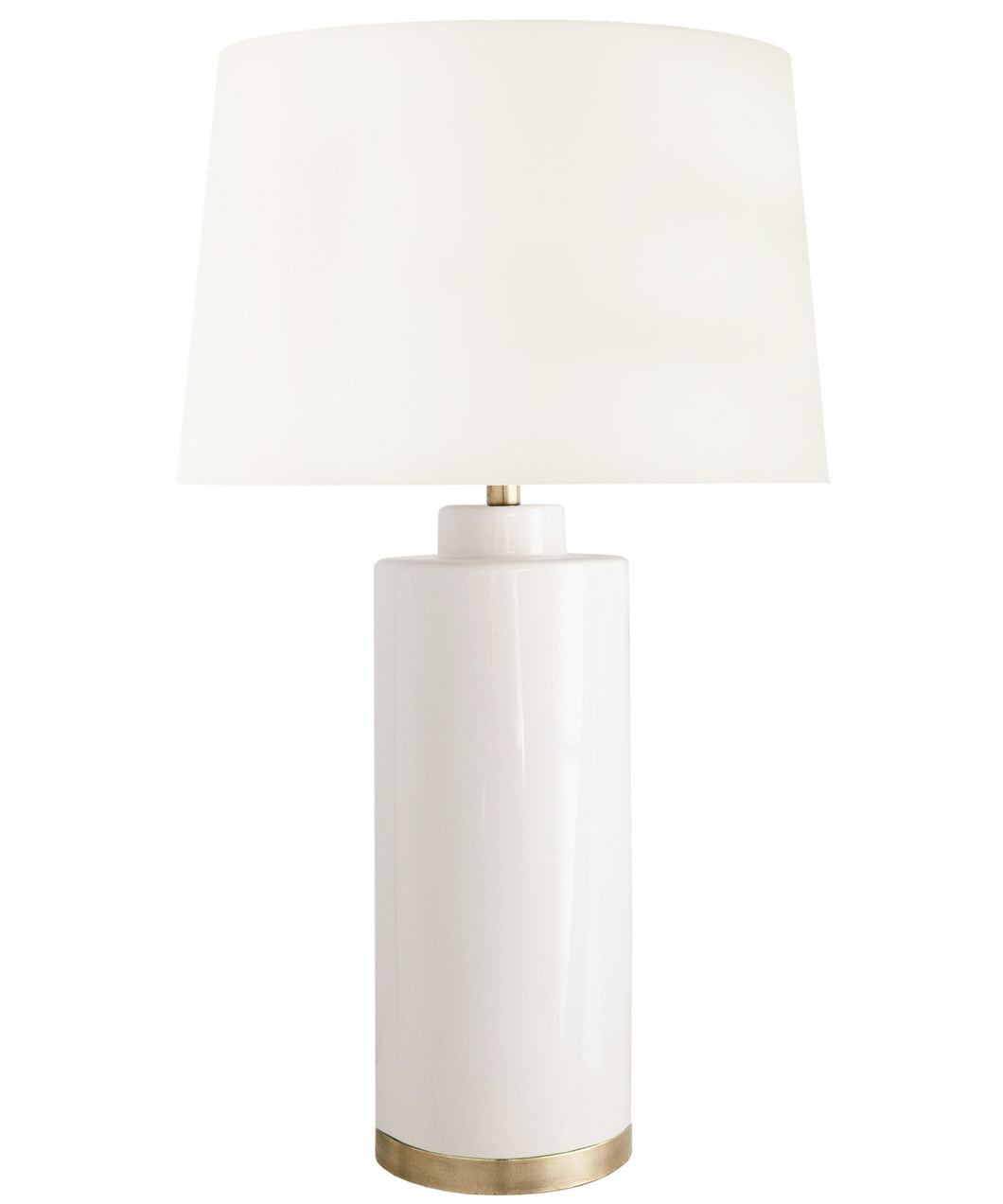 Tyler Table Lamp, White