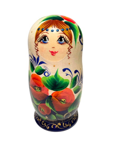Poppy Pearlescent Nesting Doll (5 Pcs)