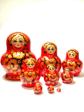 Red Matryoshka Doll (9 Pcs)