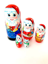 Blushing Santa Claus, 5 pieces