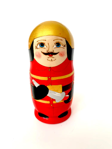 Fire Fighter Nesting Doll, 5 Pieces