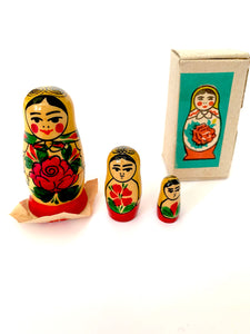 Vintage Matryoshka Doll Collectible, 3 Pcs