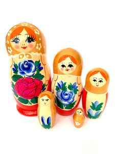 Large Matryoshka, Anastasia, 5 Pcs