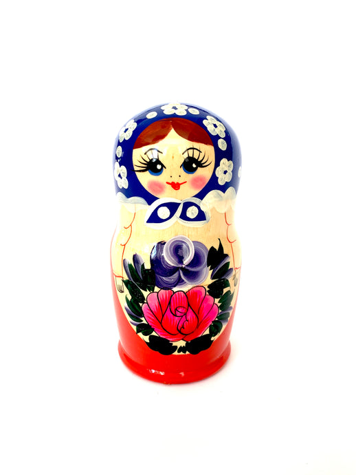 Large Matryoshka Doll, Modrana, 5 Pcs