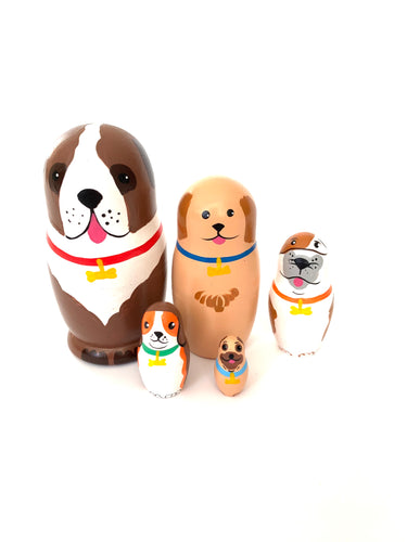 Dog Matryoshka, 5 Pcs