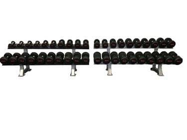 DXP 5-100 lbs Rubber Pro Style Dumbbell Set-Weights and Plates-NEW AND USED GYM EQUIPMENT/ GYMS DIRECT USA