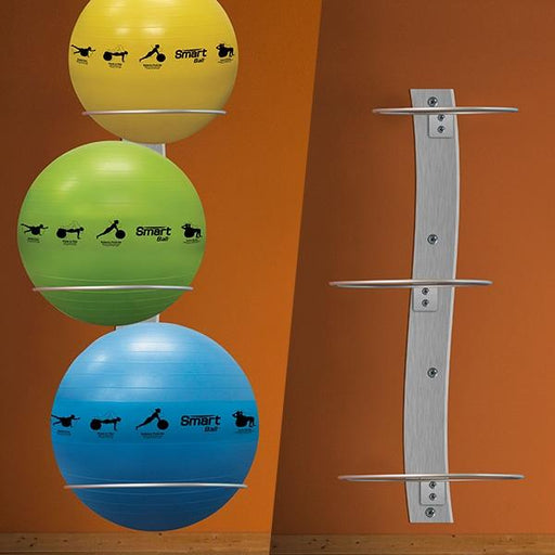 Smart Wall Mounted Stability Ball Rack By Prism Fitness