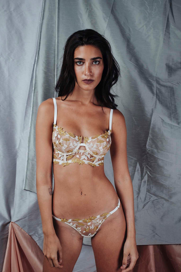 Studio Pia // Soraya Pearl Silk Embroidered Brief - Studio asanawa